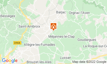Map Uzès Self-catering property 108587