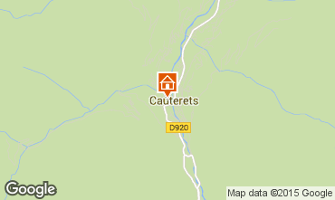 Map Cauterets Apartment 56119
