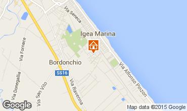 Map Bellaria Igea Marina Apartment 31420