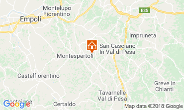 Map Montespertoli Bungalow 115969