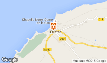 Map Etretat Self-catering property 7726