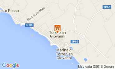Map Ugento - Torre San Giovanni Apartment 103483