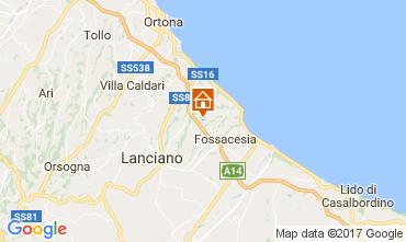 Map Rocca San Giovanni Apartment 108445