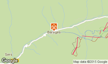 Map Barèges Apartment 74276