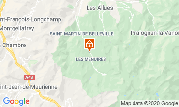 Map Les Menuires Chalet 111406