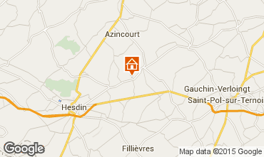 Map Hesdin Self-catering property 82435
