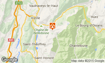 Map Alpe du Grand Serre Apartment 65959