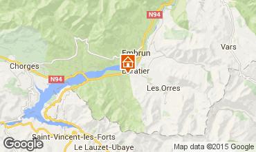 Map Les Orres Chalet 74692