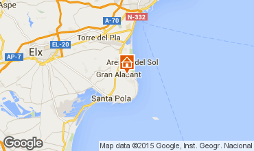 Map Santa Pola Apartment 56526