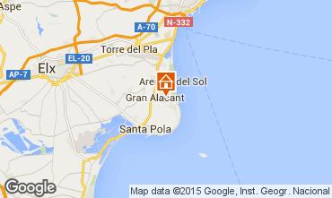 Map Santa Pola Apartment 56526