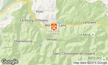Map Les 2 Alpes Studio apartment 66132