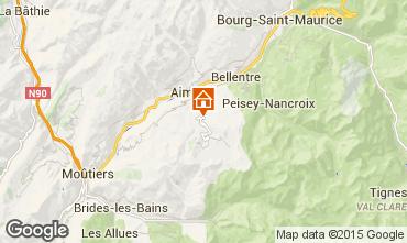 Map La Plagne Chalet 65260