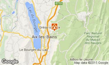 Map Aix Les Bains Self-catering property 49317