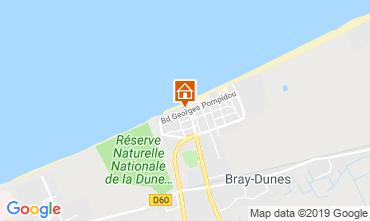 Map Bray-Dunes Apartment 112194