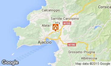 Map Ajaccio Apartment 75785