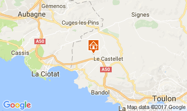 Map La Cadière d'Azur Mobile home 77786
