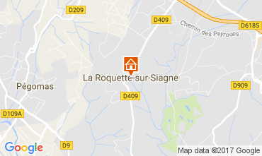 Map La Roquette-sur-Siagne Apartment 110753