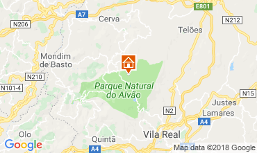 Map Vila Real Self-catering property 114765