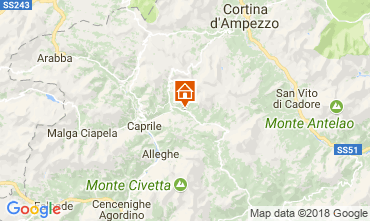 Map Selva di Cadore Apartment 80614