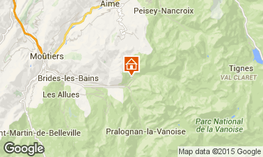Map Champagny en Vanoise Apartment 578