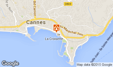 Map Cannes Studio apartment 16282