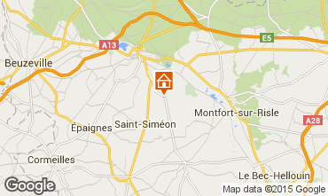 Map Pont-Audemer Self-catering property 79803