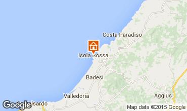 Map Isola Rossa Apartment 42214