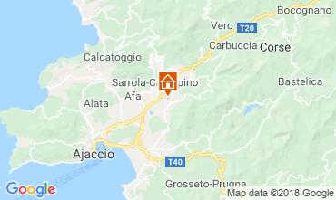 Map Ajaccio Studio apartment 40805