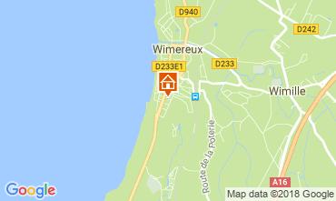 Map Wimereux Studio apartment 24874