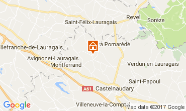 Map Carcassonne Self-catering property 111797