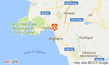 Map Alghero Apartment 106988
