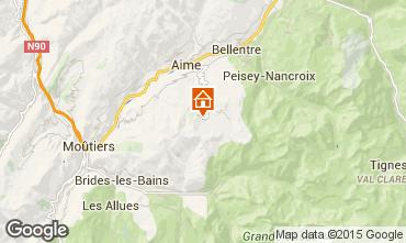 Map La Plagne Apartment 81512