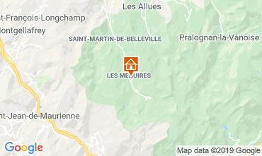 Map Les Menuires Studio apartment 15434