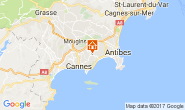Map Cannes Apartment 109755