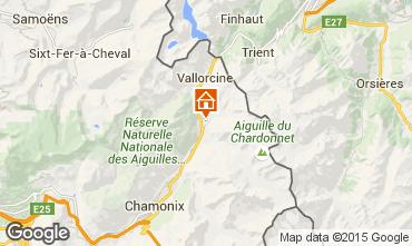 Map Chamonix Mont-Blanc Chalet 721