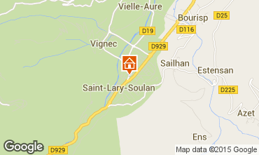 Map Saint Lary Soulan Apartment 20743