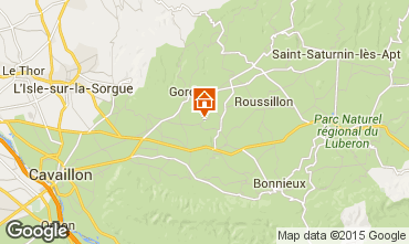 Map Gordes Self-catering property 23794