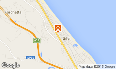 Map Silvi Marina Apartment 81417