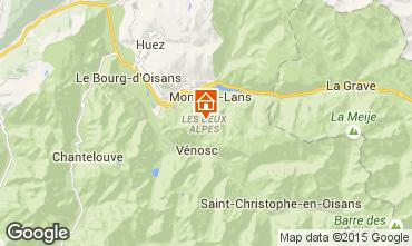 Map Les 2 Alpes Apartment 49434