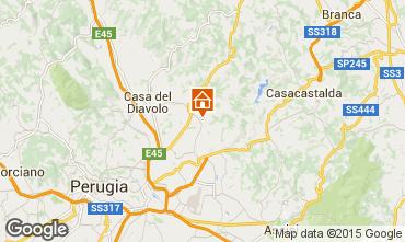 Map Perugia Apartment 73510