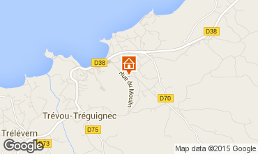 Map Trevou Treguignec House 100949