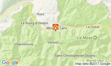 Map Les 2 Alpes Apartment 25264