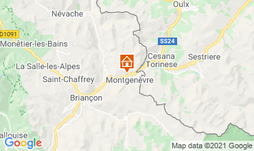 Map Montgenevre Studio apartment 89553