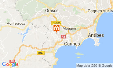 Map Cannes Self-catering property 112877