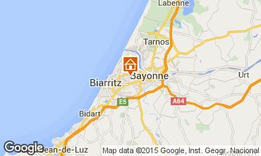 Map Biarritz Studio apartment 55368