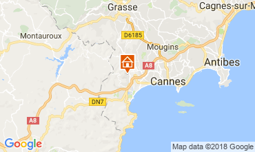Map Cannes Villa 114638
