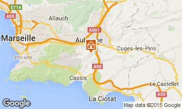 Map Cassis Studio apartment 8435