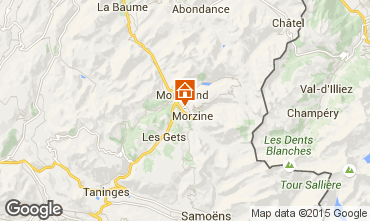 Map Morzine Studio apartment 1938