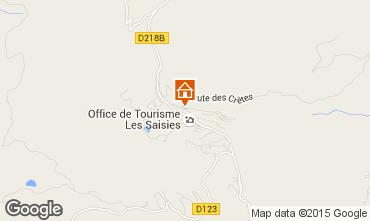 Map Les Saisies Apartment 2718