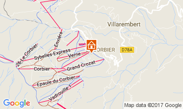 Map Le Corbier Studio apartment 102014